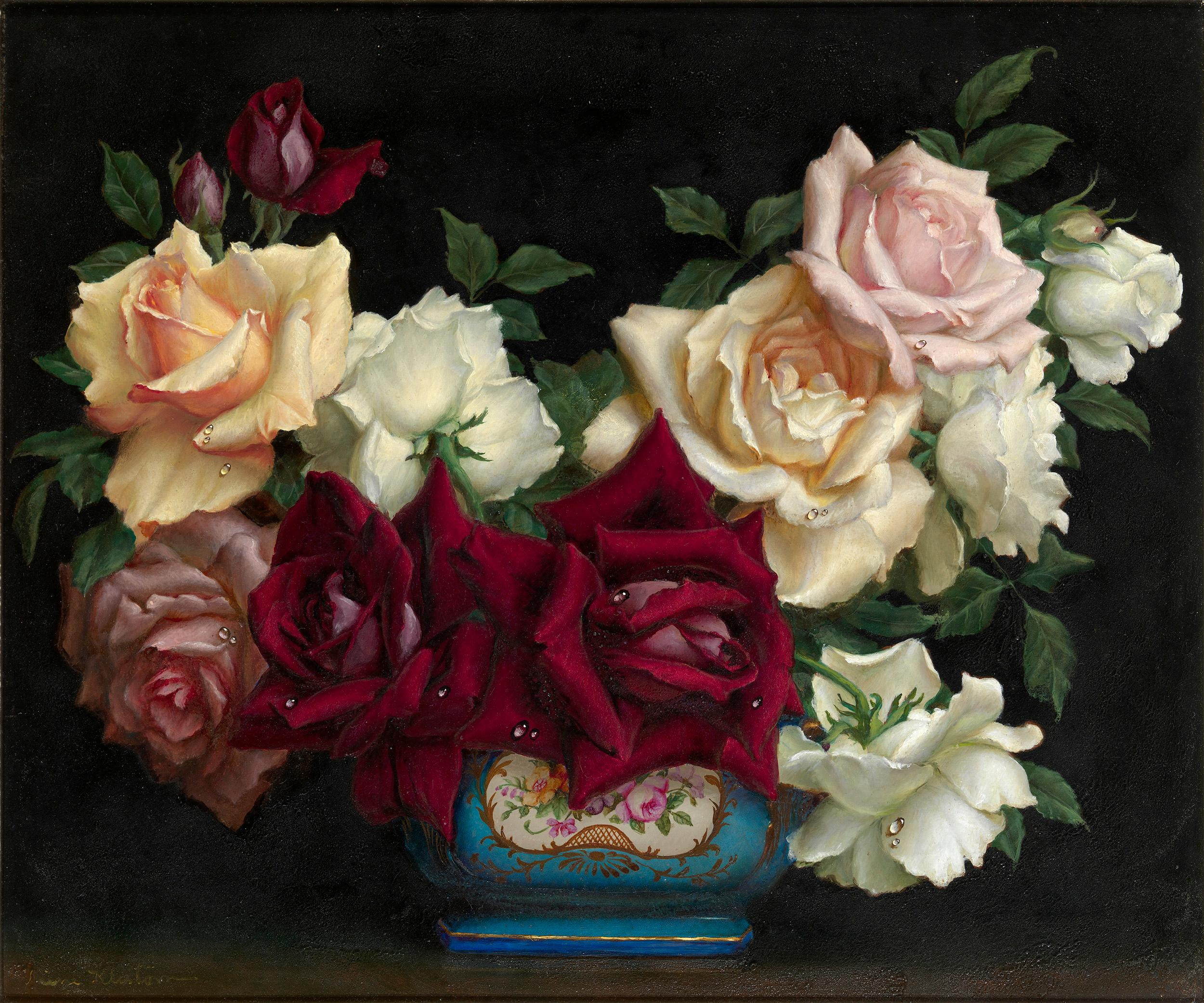 Still Life with Roses by Irene Klestova