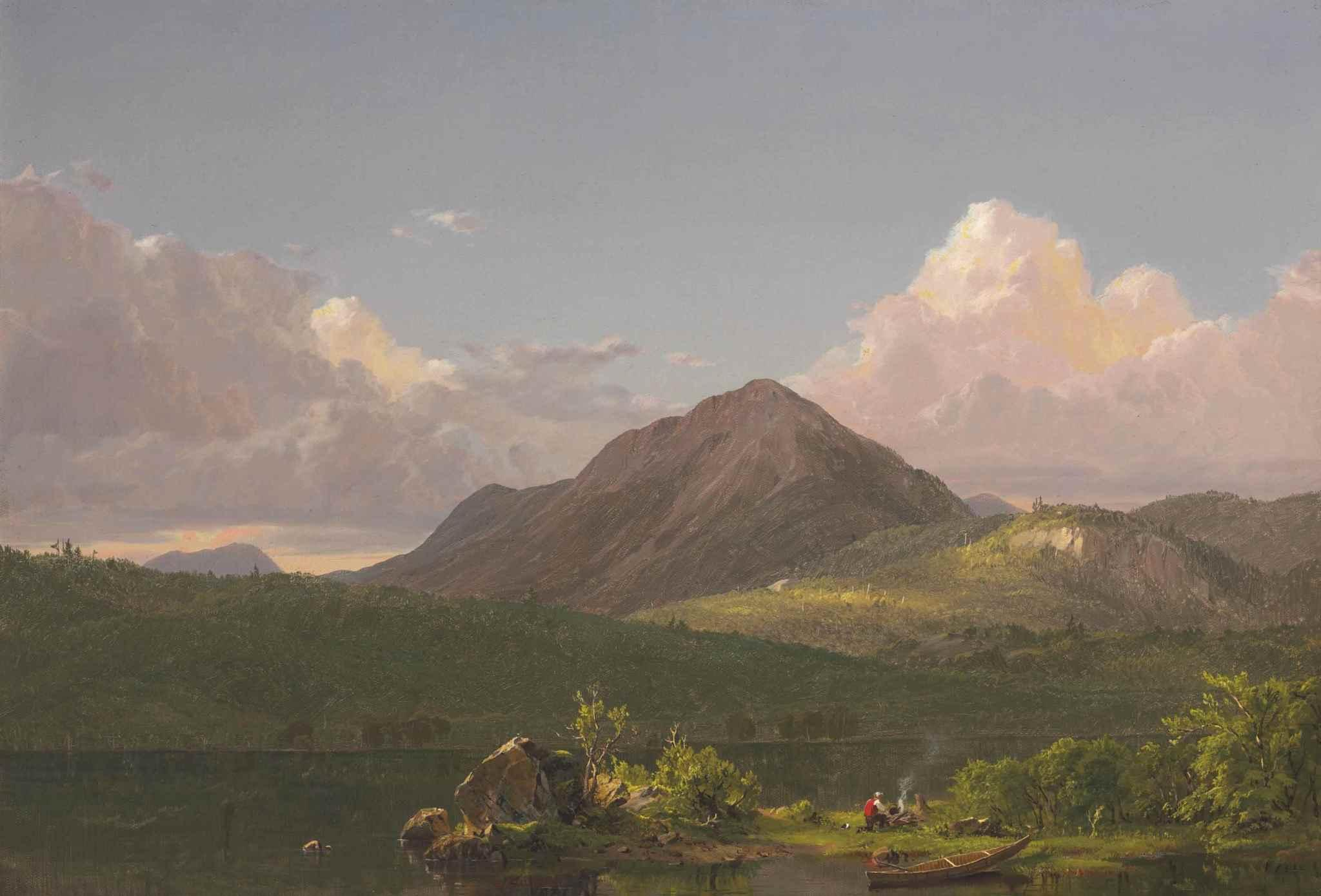 Mount Newport on Mount Desert Island by Frederic Edwin Church