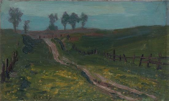 Country landscape by George Raab