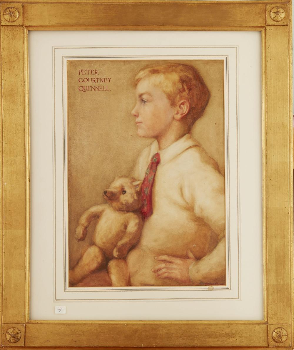 Portrait of the young Peter Courtney Quennell (author and critic) by Marjorie Quennell