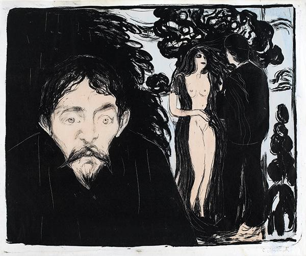 Eifersucht II by Edvard Munch