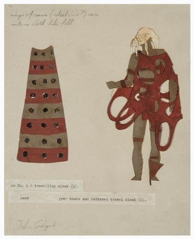 Sir John Gielgud as King Lear (Costume Design, Royal Shakespeare Theatre, England) by Isamu Noguchi
