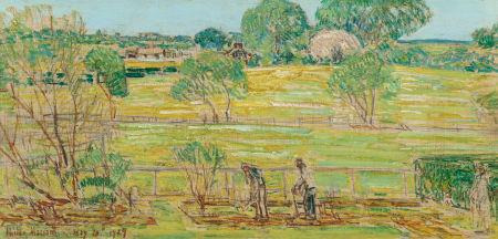 May in the Garden by Childe Hassam