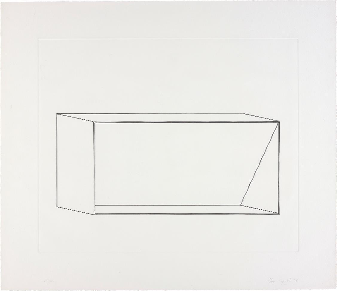 Untitled: one plate by Donald Judd