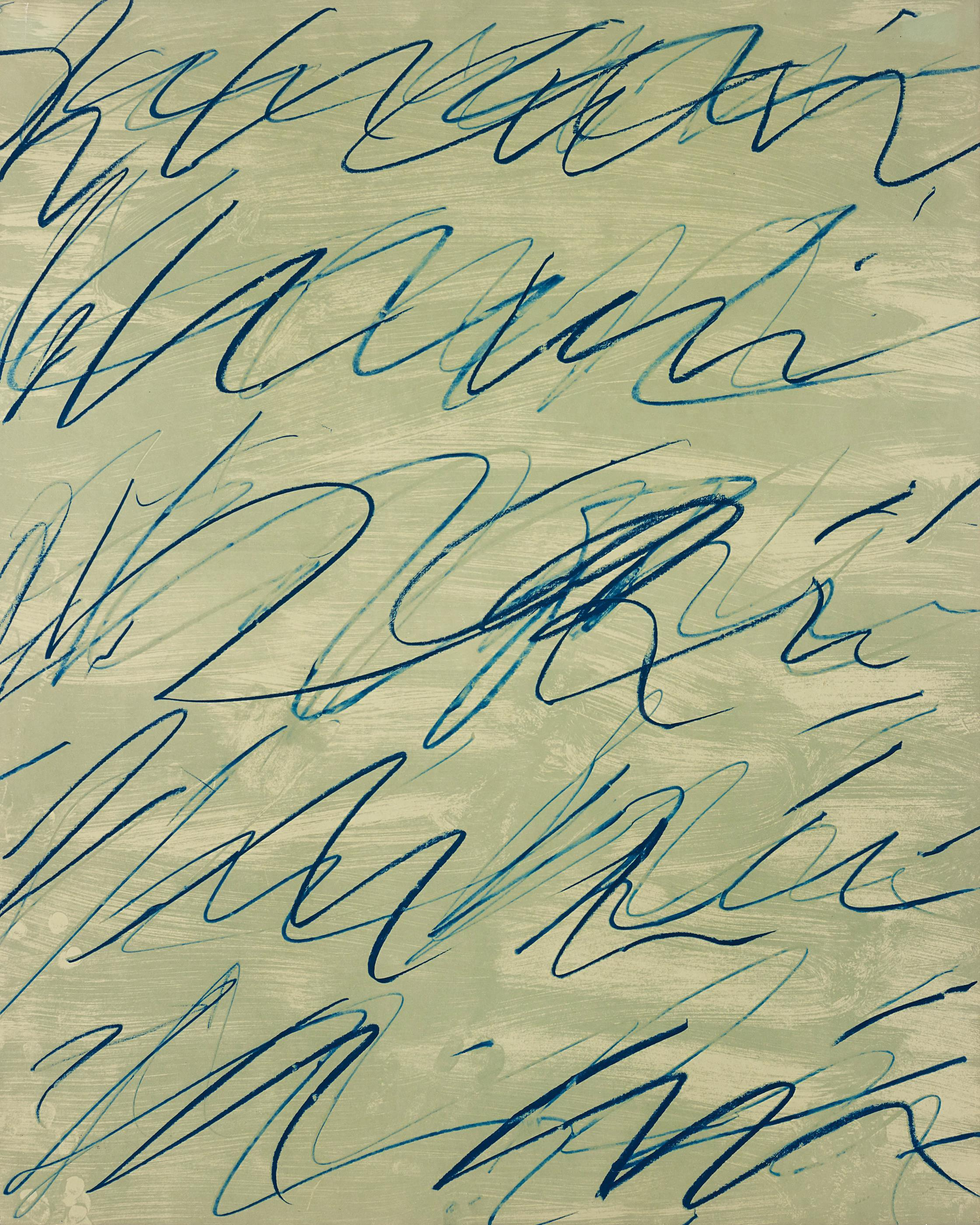 Roman Notes V, from Roman Notes by Cy Twombly