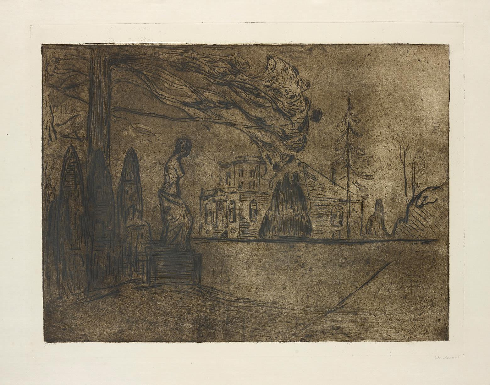 The Garden at Night, from Linde portfolio by Edvard Munch
