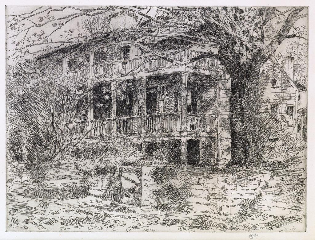 The Old House, Cos Cob by Childe Hassam