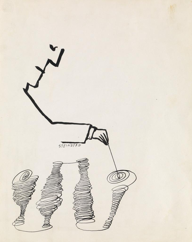 Figure Drawing by Saul Steinberg