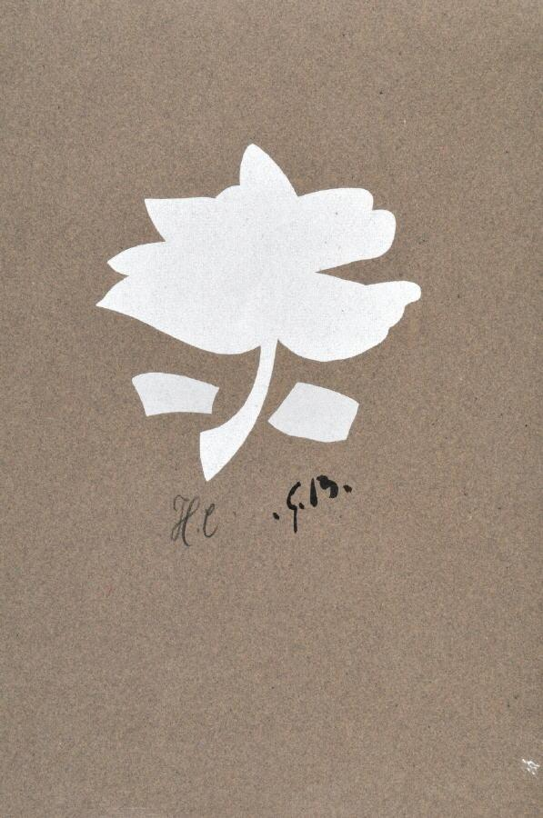 Blume by Georges Braque