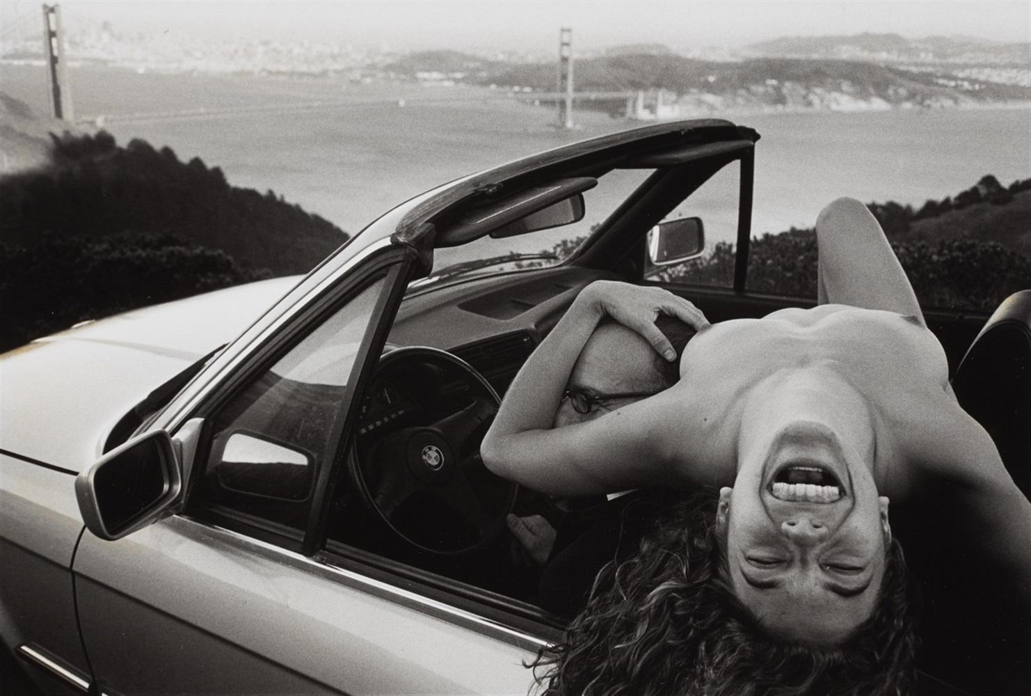 Kate in a Car, USA by Leonard Freed