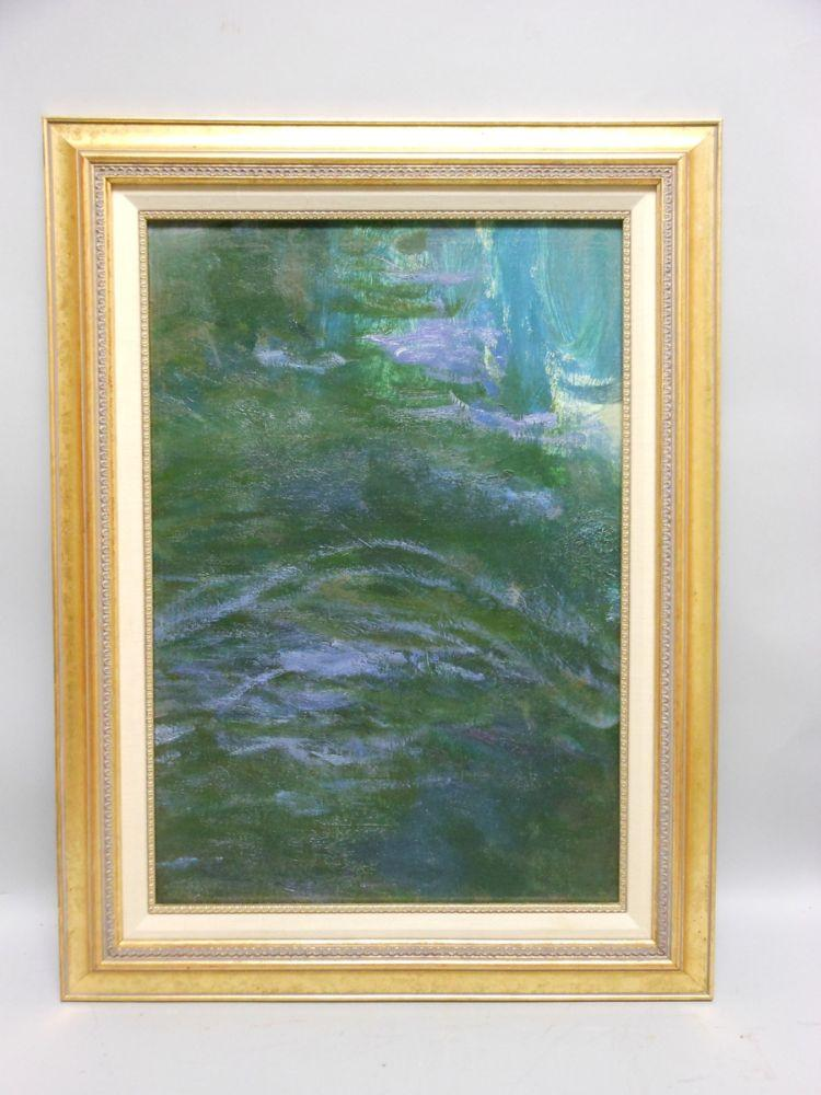 Study of Water/An Oil Study Fragment by Claude Monet