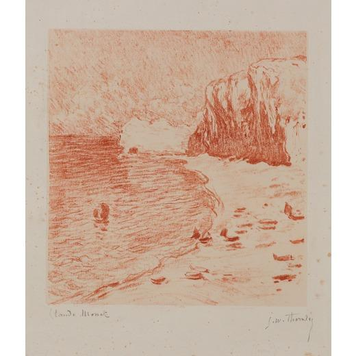 Beach and falaise d'Amont by Claude Monet