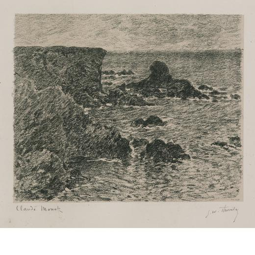 Rocky coast and the Lion Rock by Claude Monet