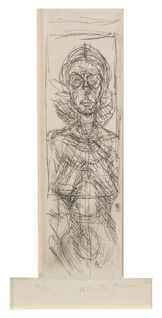 Annette facing front by Alberto Giacometti