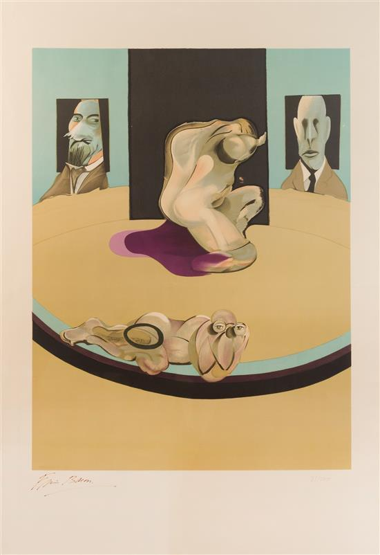 Study of the Human Body (from the Metropolitan Triptych) by Francis Bacon