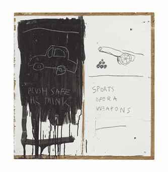 Untitled (Plush Safe He Think) by Jean-Michel Basquiat