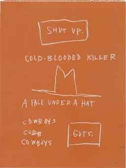 Untitled (Cold blooded killer) by Jean-Michel Basquiat