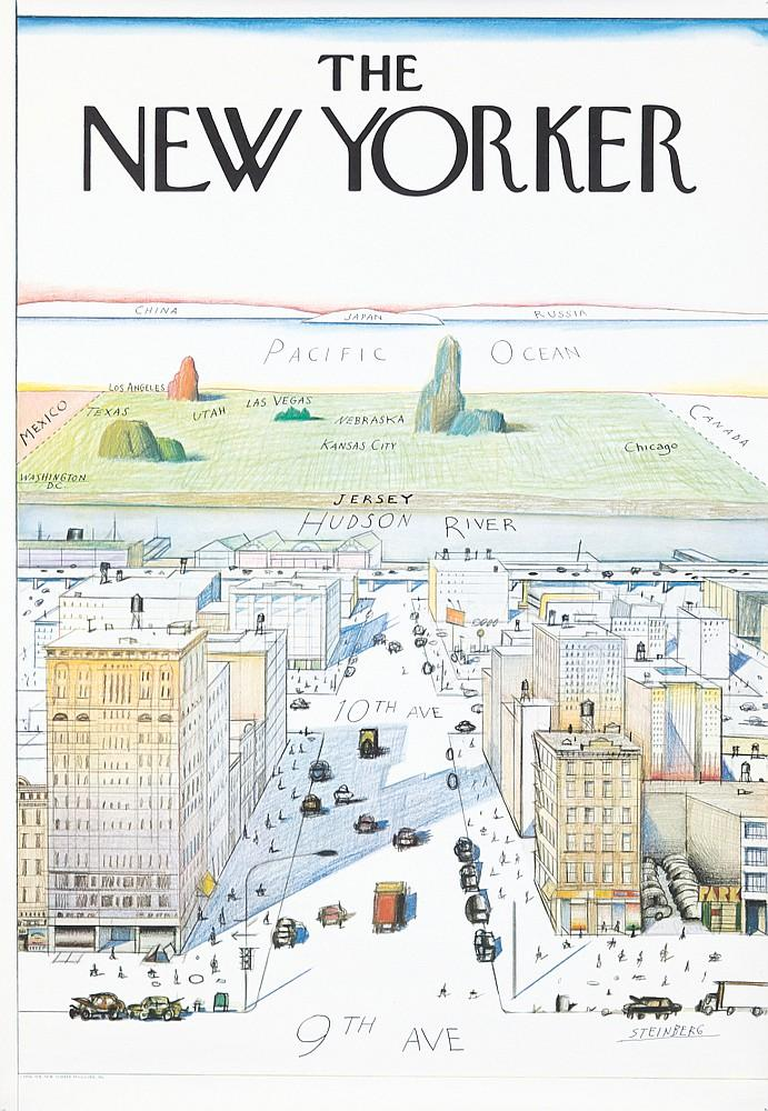 The New Yorker by Saul Steinberg