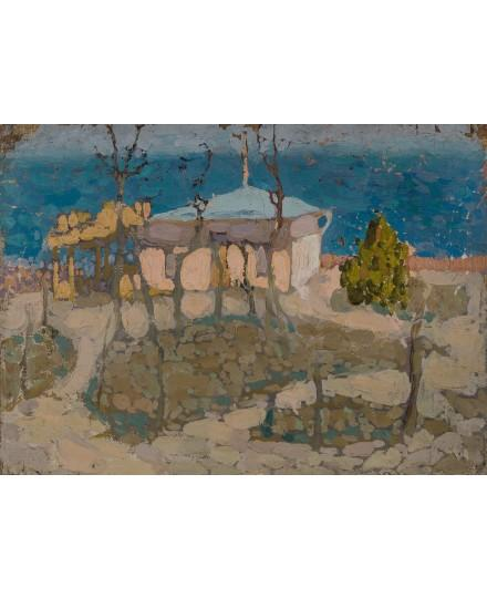 A house on the shore of the black sea by Vladimir Baranoff-Rossine