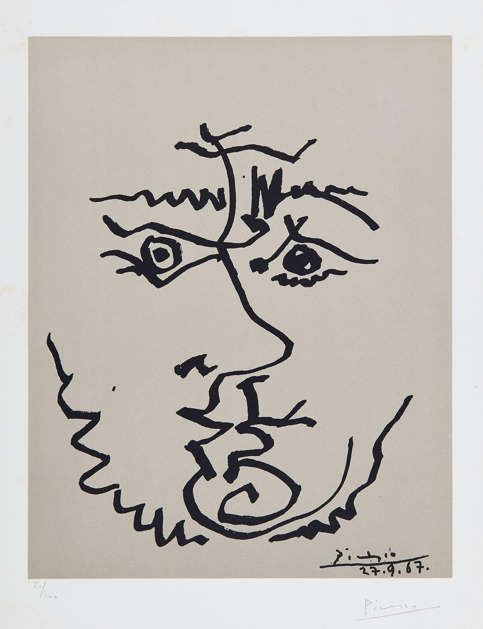 Visage by Pablo Picasso