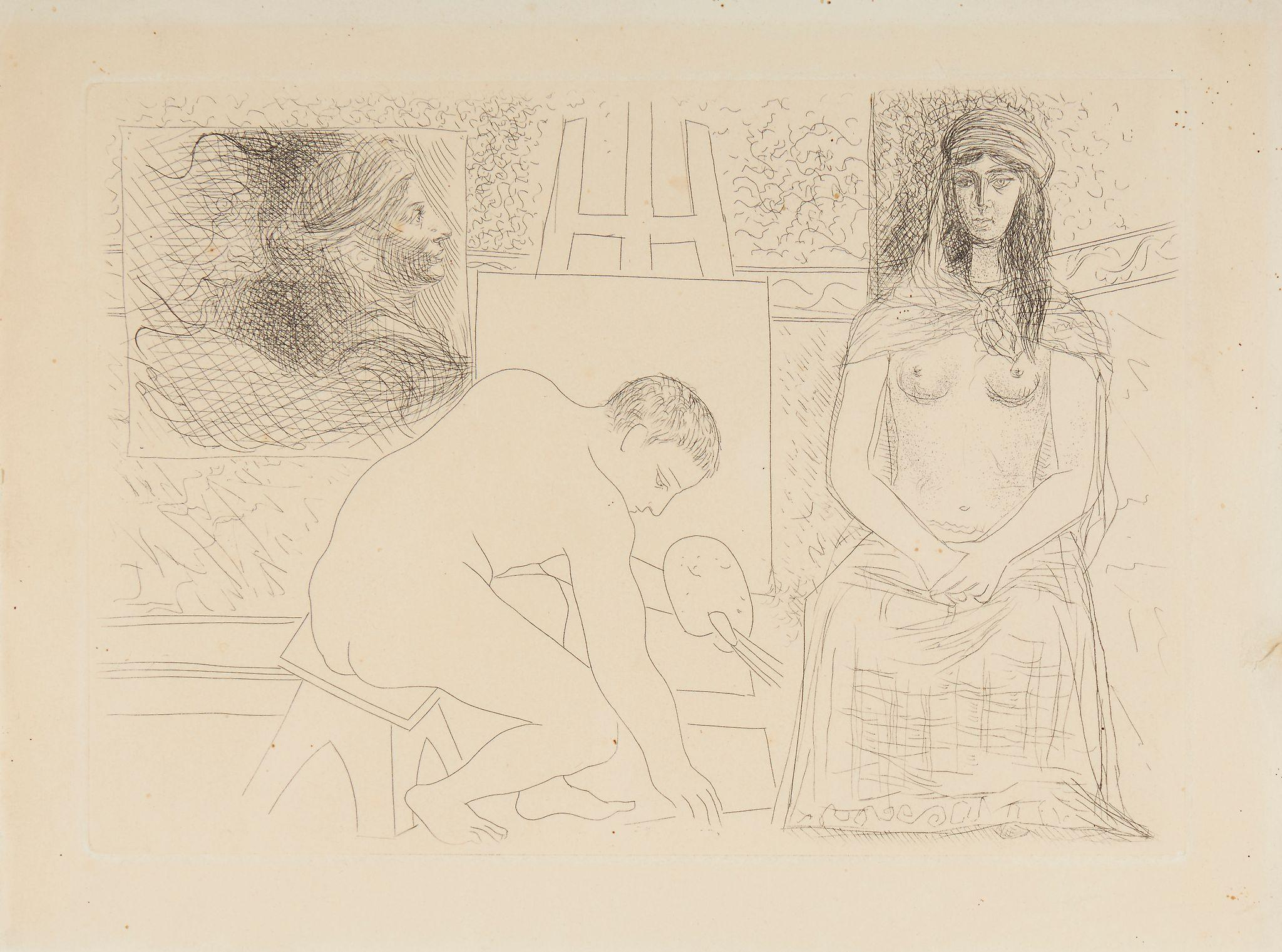 Plate 7 from Honore de Balzac, Le Chef D'Oeuvre Inconnu (B 88) by Pablo Picasso