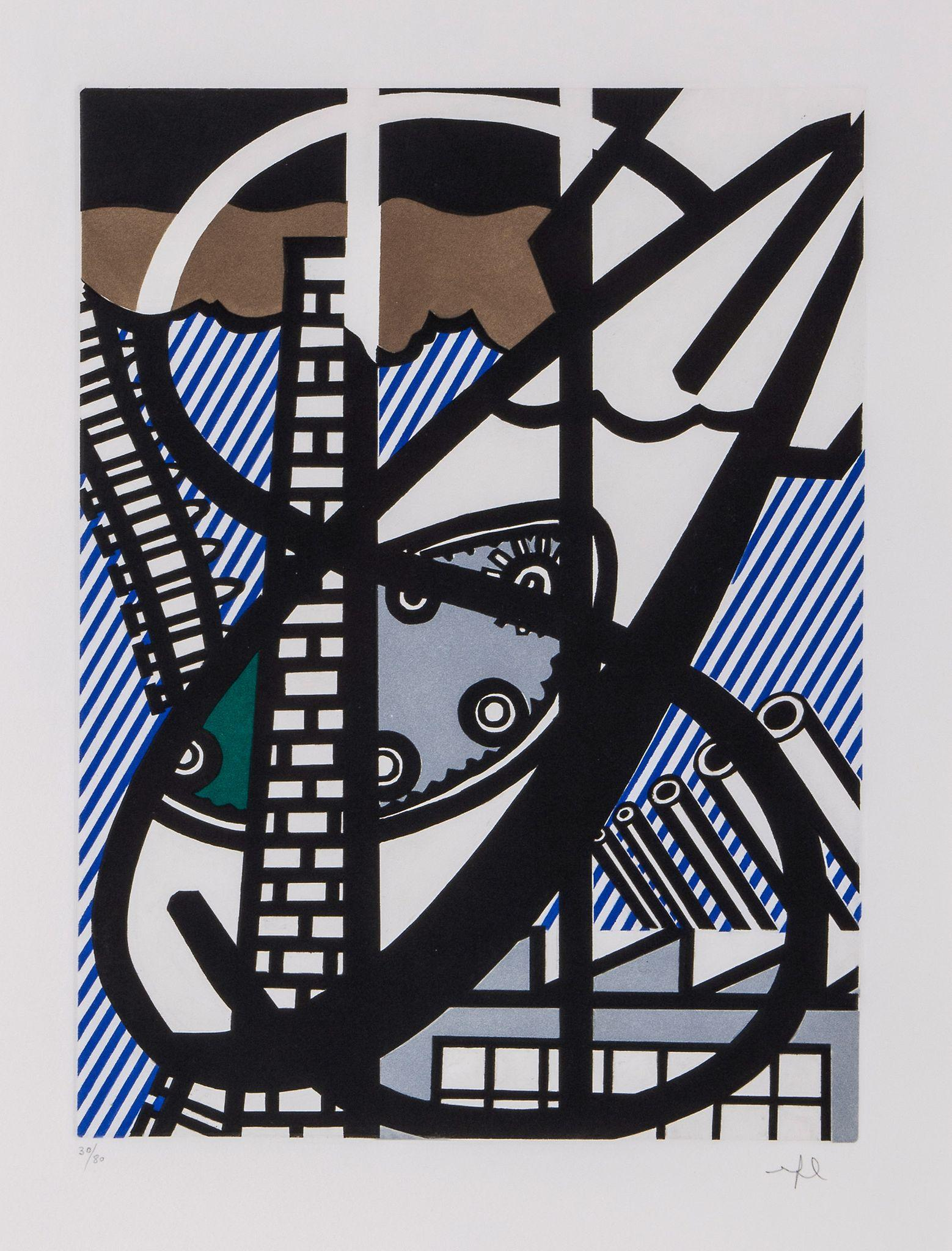 Illustration for Une Fenetre ouverte sur Chicago (C 271) by Roy Lichtenstein