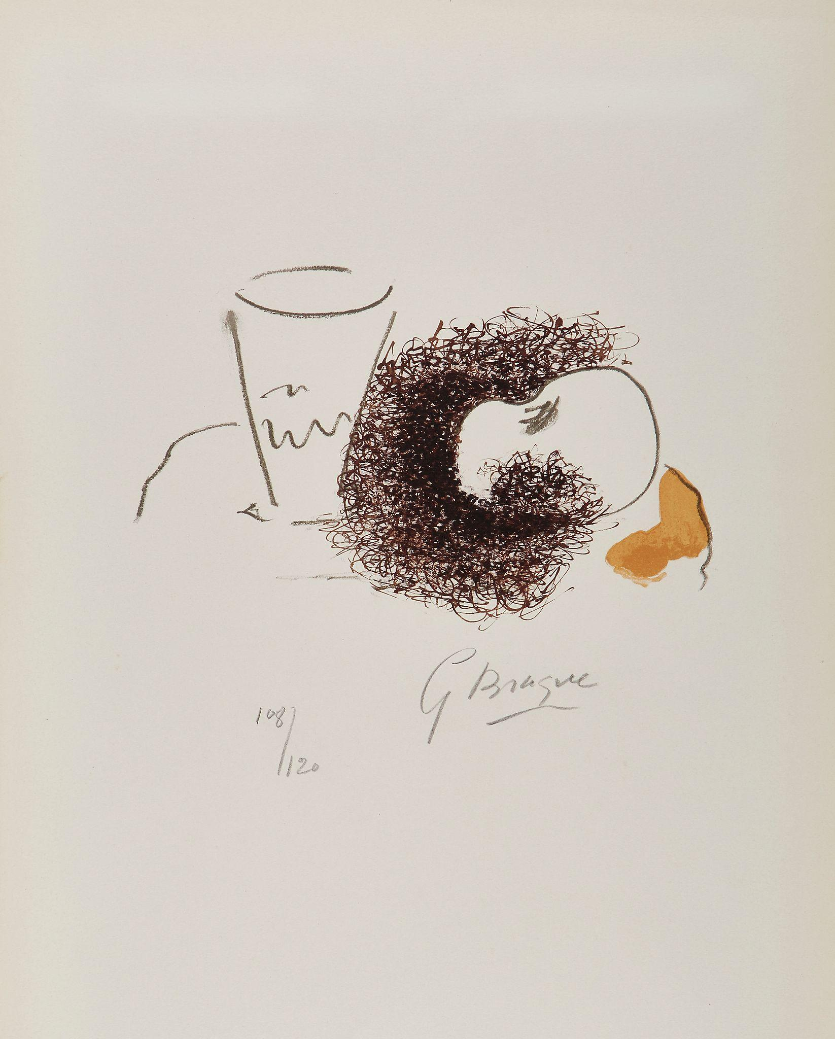 The Glass and the Apple by Georges Braque