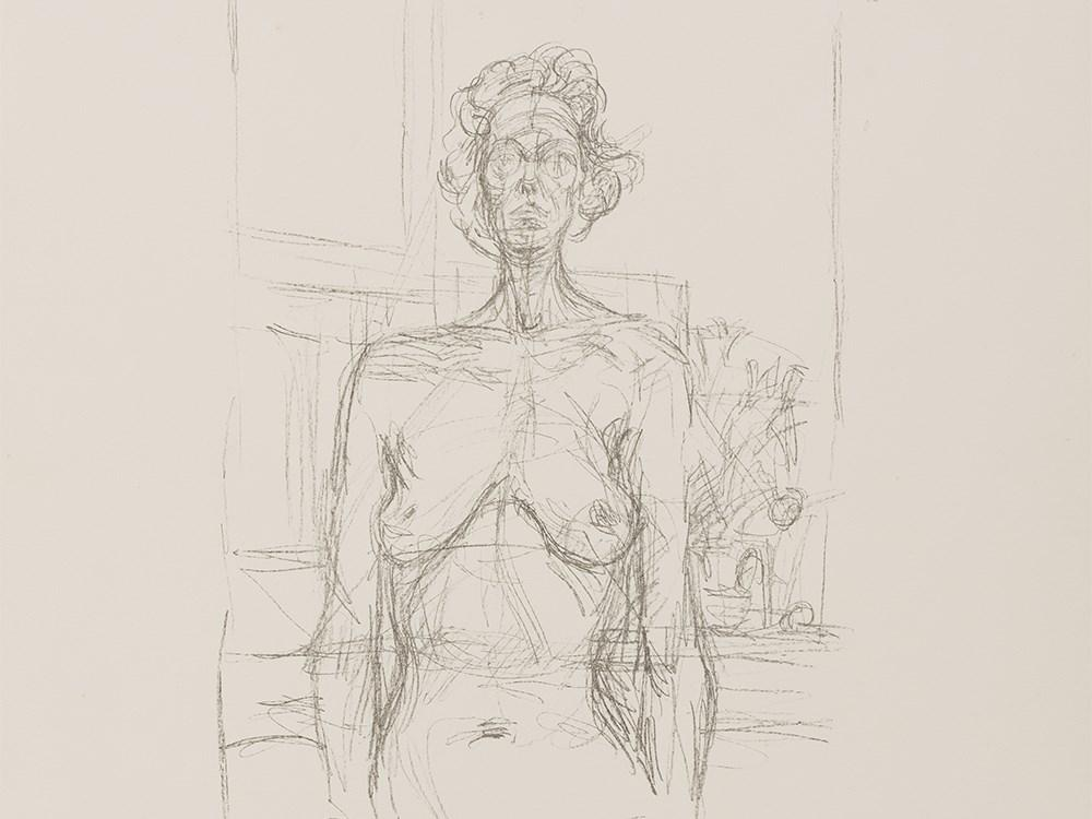 Nude with Flowers by Alberto Giacometti
