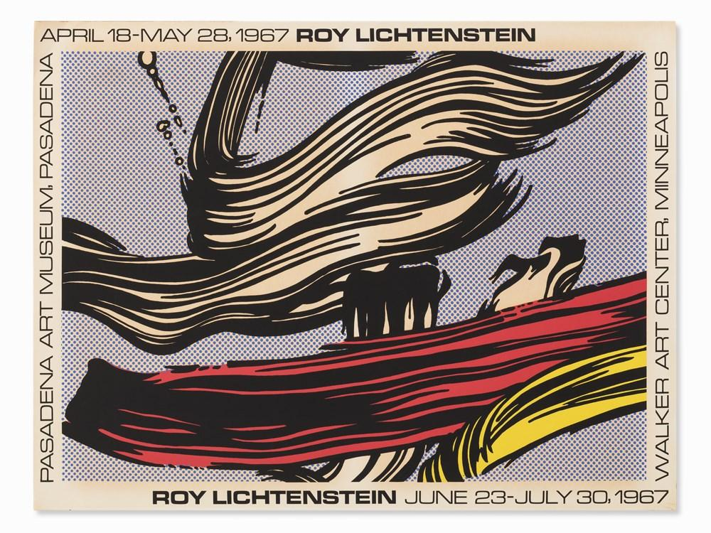 Exhibition Poster, Pasadena Art Museum by Roy Lichtenstein