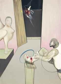 Oedipus and the Sphinx (after Ingres) by Francis Bacon