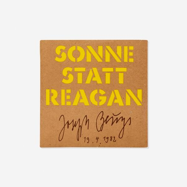 Sonne Statt Reagan by Joseph Beuys