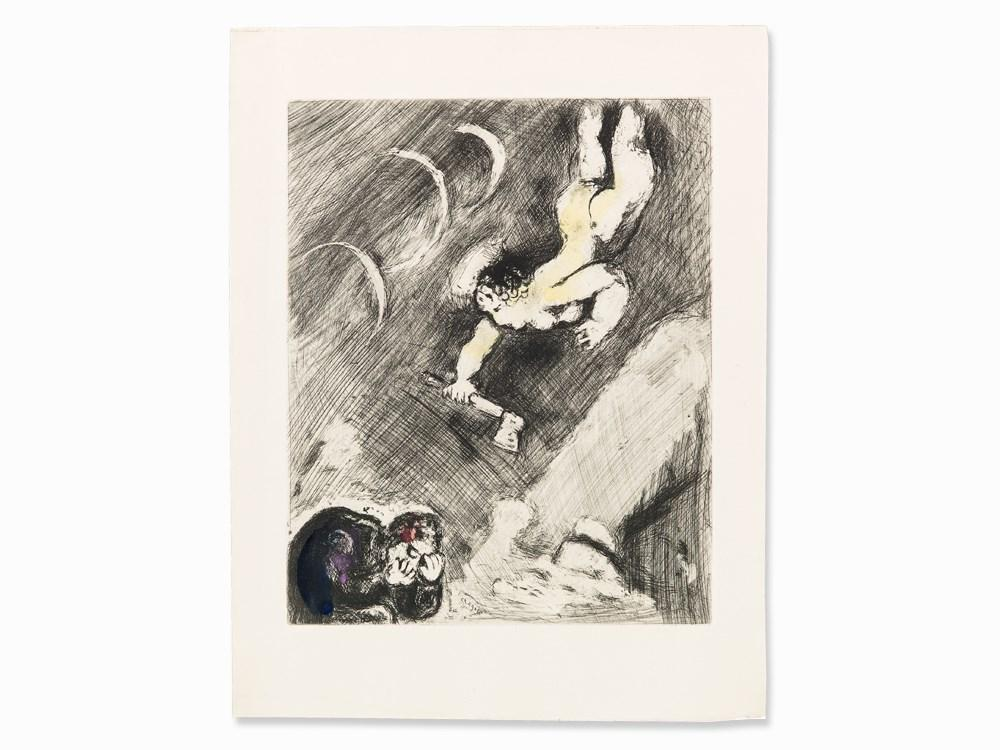 The Woodcutter and Mercury by Marc Chagall