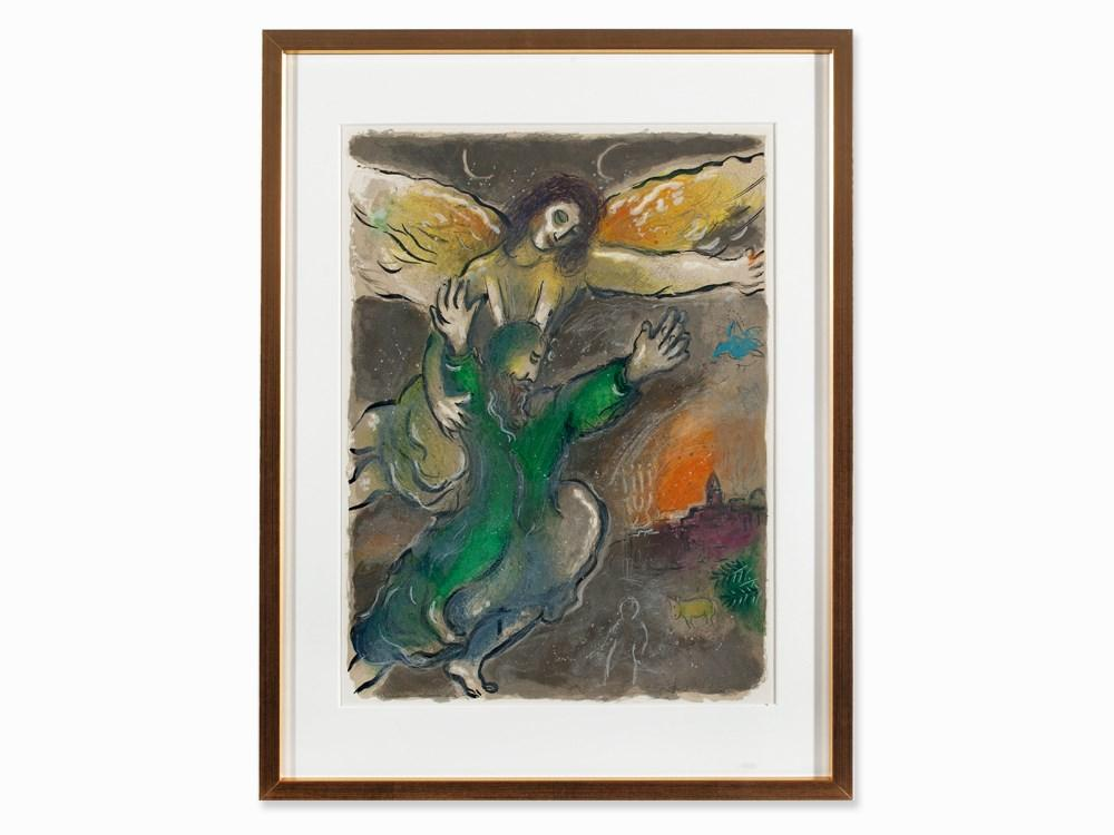 Moses Consecrates the Accomplished Work by Marc Chagall