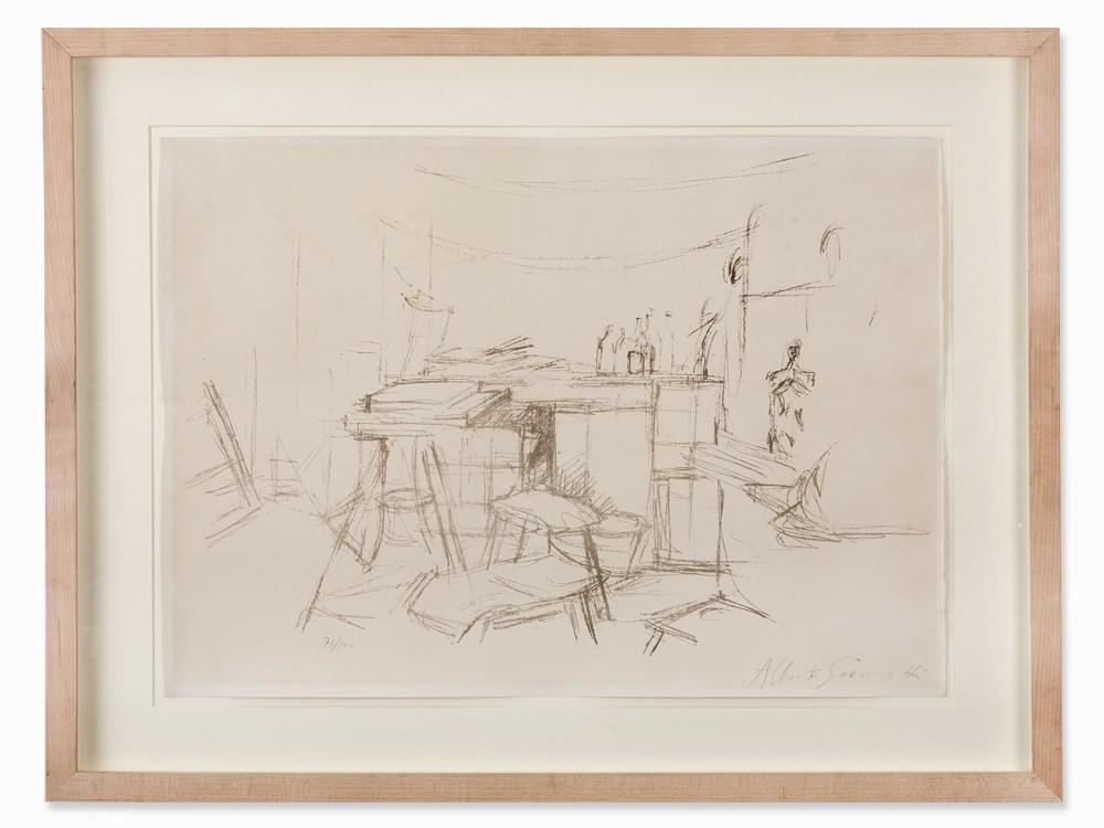 'The Studio with Bottles' by Alberto Giacometti