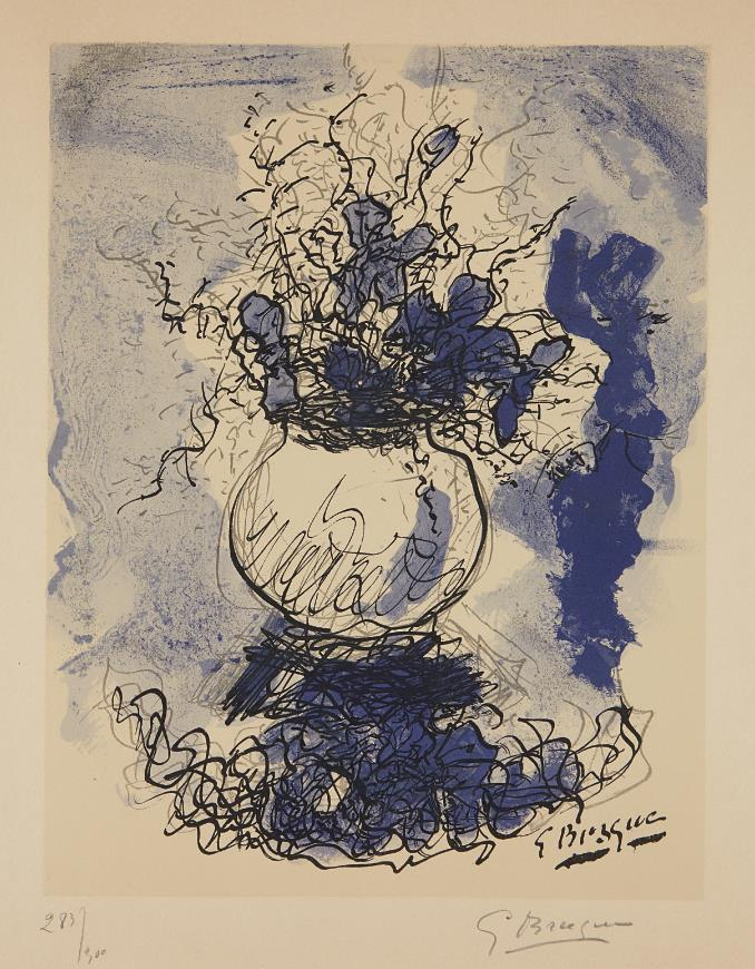 Bouquet. Fleurs ? l'aquarelle by Georges Braque