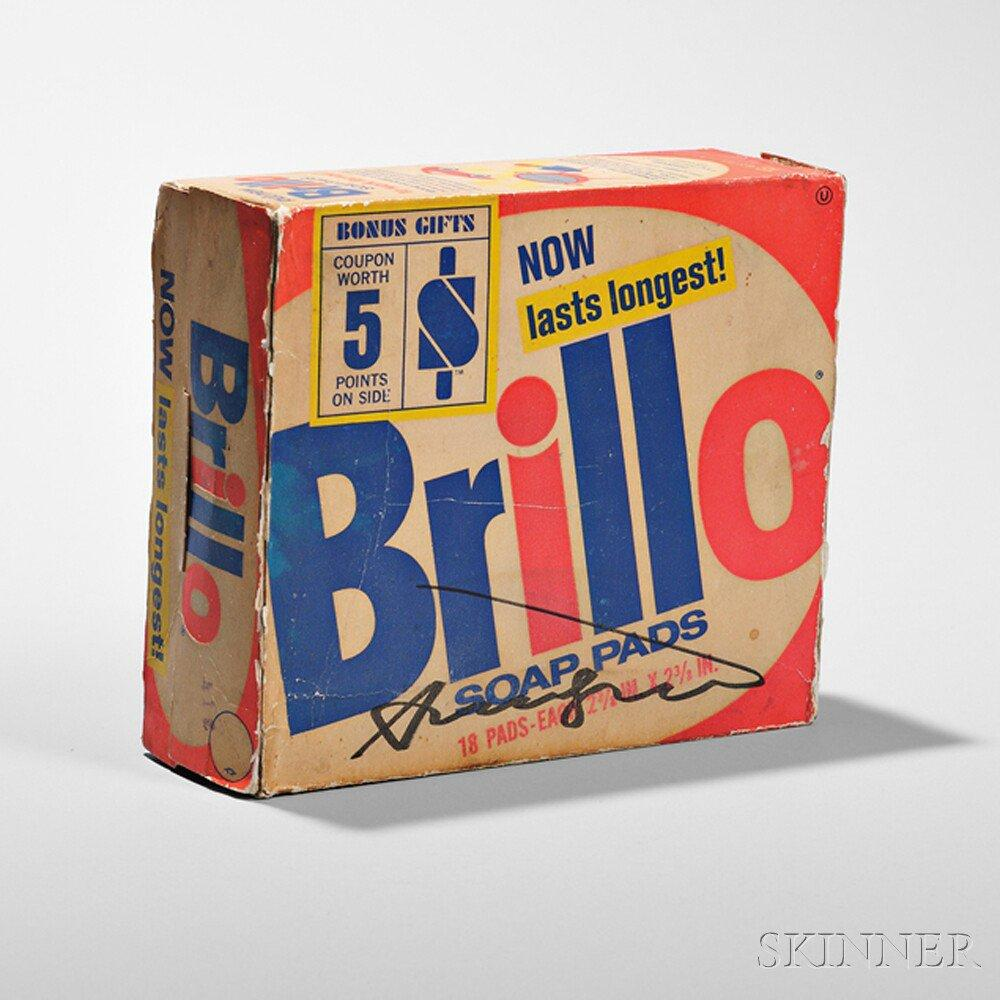 Signed Brillo Soap Pads Box by Andy Warhol