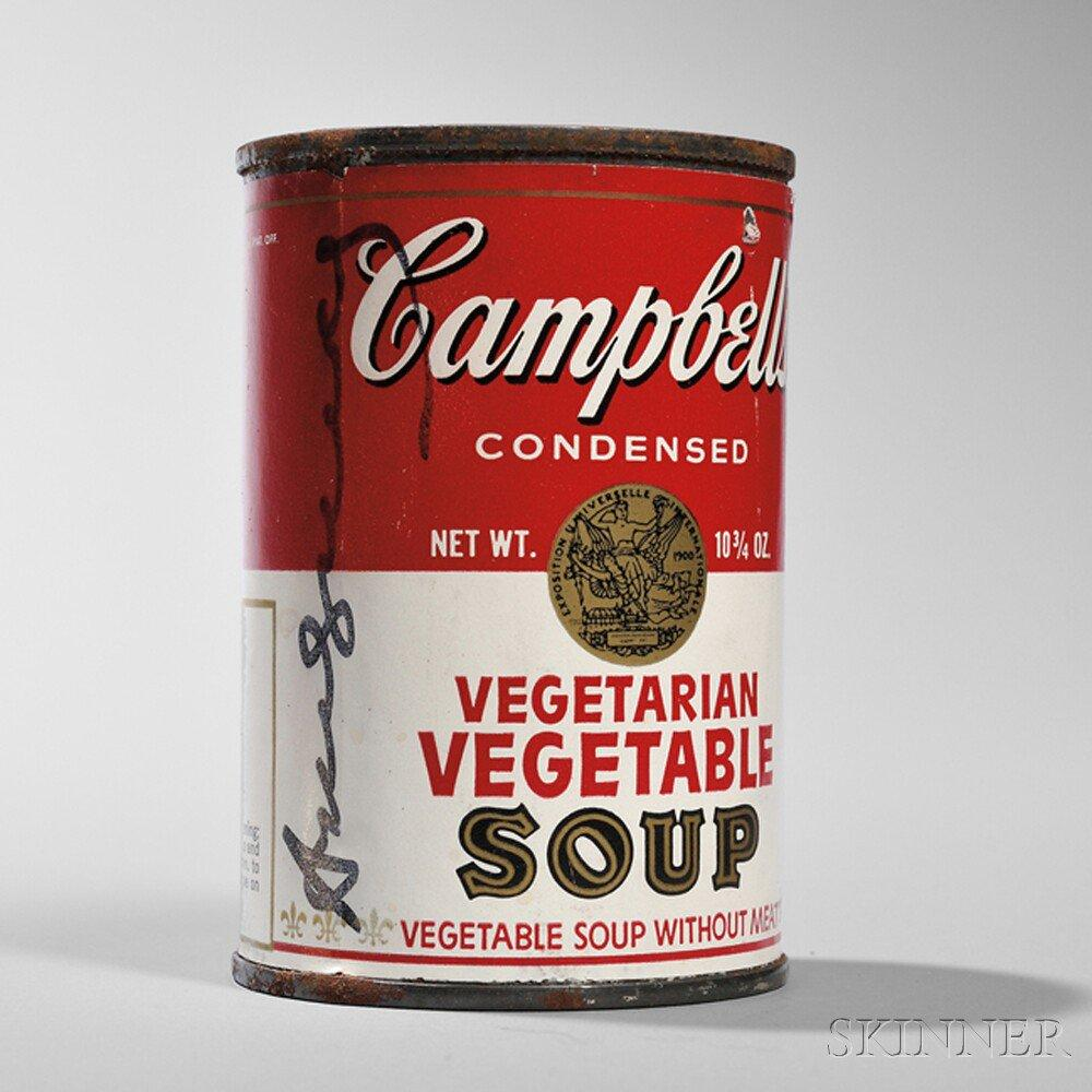 Signed Campbell's Soup Can by Andy Warhol