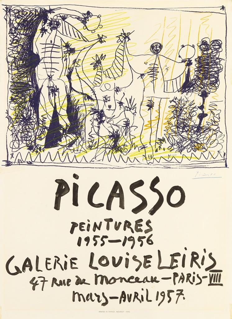 Picasso Peintures / Galerie Louise Leiris. 1957 by Pablo Picasso