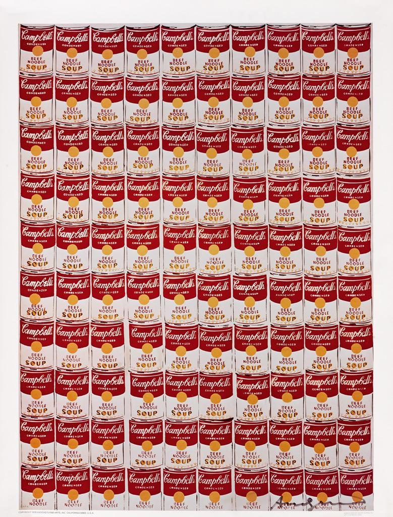100 Cans. 1978 by Andy Warhol