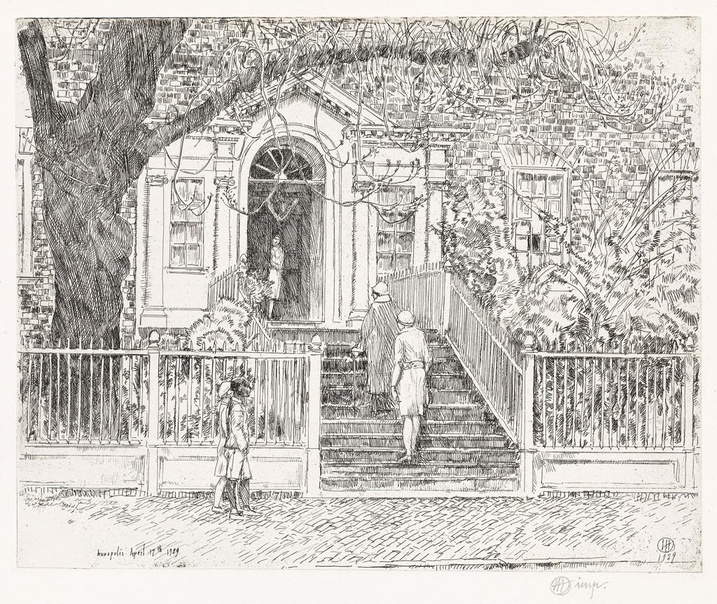 The Chase House (Annapolis) by Childe Hassam