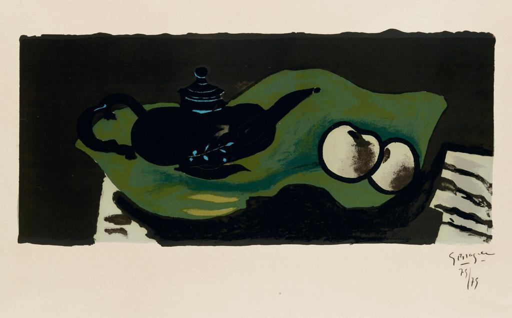 Th?i?re et pommes by Georges Braque