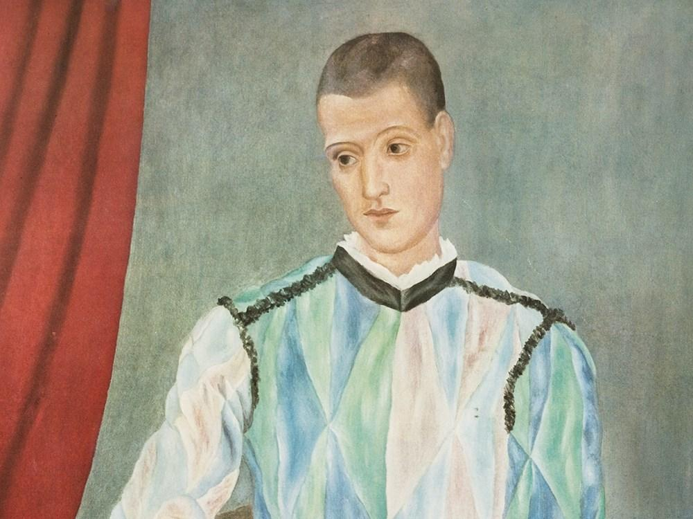 Harlequin by Pablo Picasso