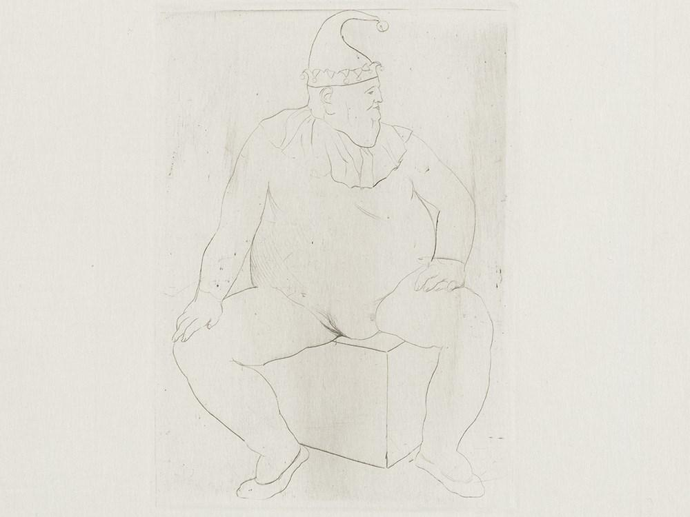 from: Le Saltimbanque Au Repos by Pablo Picasso