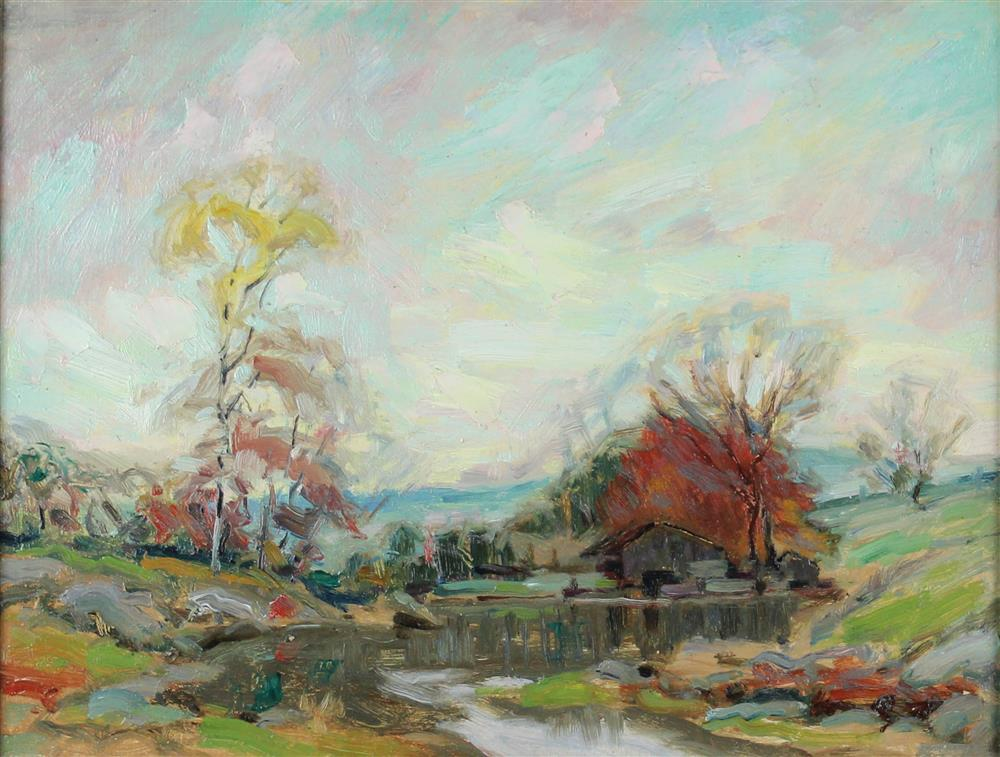 Mill on the water by Henry Rodman Kenyon