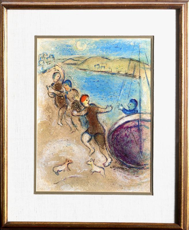 The Young Men of Methymna (from Daphnis and Chloe) by Marc Chagall