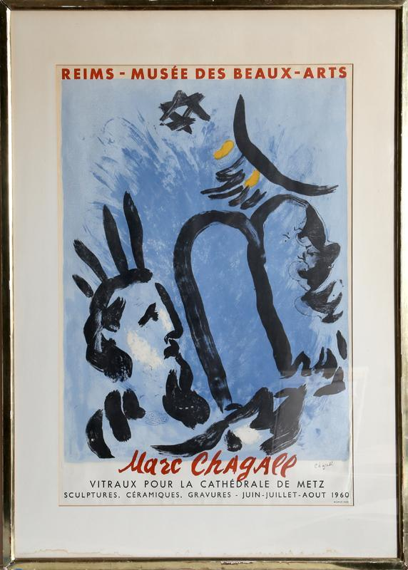 Exhibition at the Musee des Beaux-Arts in Reims (Vitraux pour la Cathedrale de Metz) by Marc Chagall