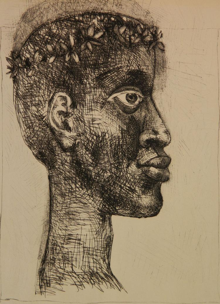 Contemporary Africa first congress of black writers and artists (Czwiklitzer 107) by Pablo Picasso