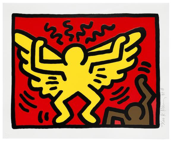 One Plate, from Pop Shop IV by Keith Haring