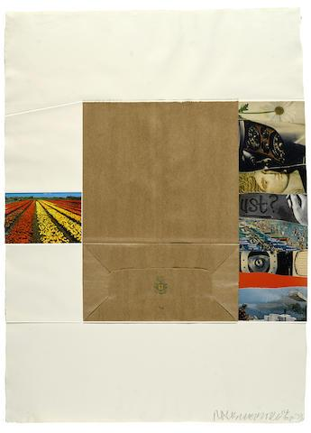 Plot, from Reality and Paradoxes, 1973 by Robert Rauschenberg