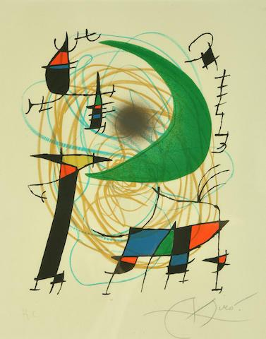 Pl. 7, from Joan Mir? Lithographs I (M. 861; C. bk. 160) by Joan Miro